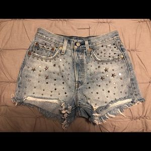 Levi's 501 Studded High Rise Jean Shorts